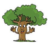 Fresh Green Tree Smile — Stock Vector