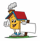 Smile House holding banner — Stock Vector