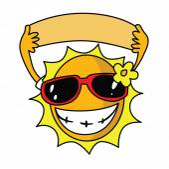 Summer Sun Using Sunglasses — Stock Vector