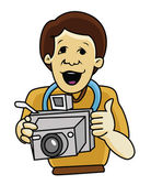 Cameraman Classic — Stock Vector