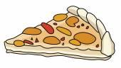 Tasty Pizza — Stock Vector