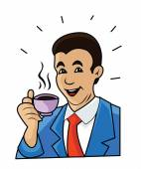 Coffee Man cartoon — Stock Vector
