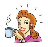 Women drinking coffee — Stock Vector