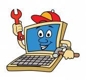 Laptop Technician — Stockvector