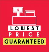 Lowest Price Guaranteed Label — Stock Vector