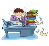 Overload Job — Stock Vector