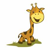 Giraffe Illustration Cartoon — Stock Vector