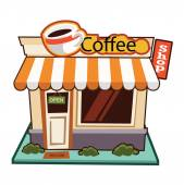 Coffee Shop illustration — Stock Vector