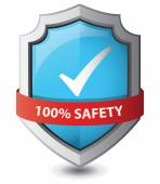 Vector illustration of  safety shield : Safety concept. — Stock Vector