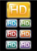 Full HD label — Stock Vector