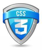 Blue shield CSS 3 — Stock Vector