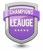 Purple shield Champions league — Stock Vector