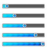 Blue arrow loading bar — Stock Vector