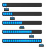Attention blue Loading Bars — Stock Vector
