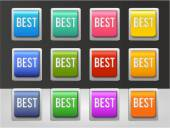 Best color buttons set — Stock Vector