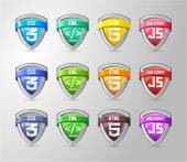 Glossy Shield Collection — Stockvector