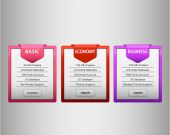 Pink,red and purple web list — Vector de stock