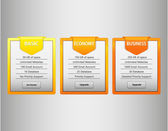 Orange web list — Vector de stock