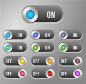 Interrupteur bouton — Vecteur