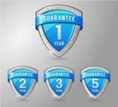 Product guarantee labels set — Stock Vector