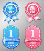 Best baby boy and girl symbol — Stock Vector
