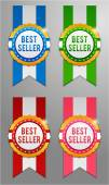 Best seller labels set — Stock Vector