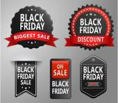 Black friday sale badges set — Stock Vector
