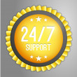 24, 7 support button — Stock Vector #71706259