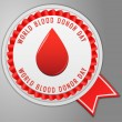 Blood donation button — Stock Vector #71706263