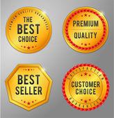 Golden business badge — Stockvector