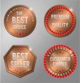 Bronze Business Badge — Stock Vector