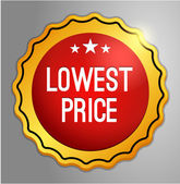 Lowest price button — Stock Vector