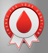 Blood donation badge — Stock Vector