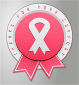 Breast cancer badge — Wektor stockowy