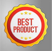 Best product label — Stock Vector