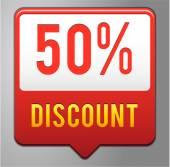 50 percent discount tag — Stock Vector