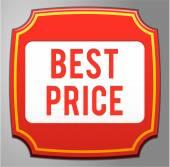 Best price label — Stock Vector