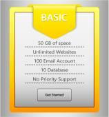 Web list label — Stock Vector
