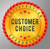 Customer choice satisfaction guarantee — Stock Vector