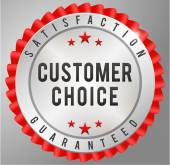 Customer choice satisfaction guaranteed — Stock vektor