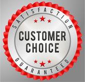 Customer choice satisfaction guaranteed — Vector de stock