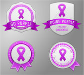 Epilepsy awareness badges — Stock Vector