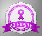 Epilepsy awareness badge — Stock Vector