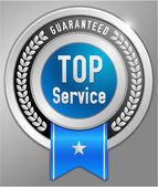 Top service label — Stock Vector
