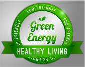 Green energy label — Stock Vector