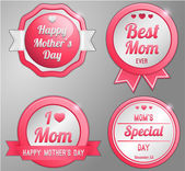Mothers day labels set — Stock Vector