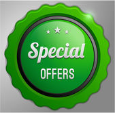 Special offers label — Stock Vector