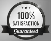 Guaranteed satisfaction Label — Stock vektor
