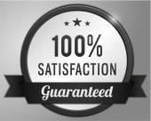 Guaranteed satisfaction Label — Vector de stock