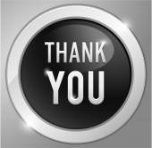 Thank you button, sign — Stock Vector